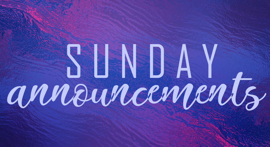 sunday announcements web